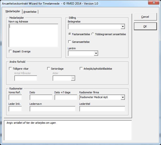 Ansættelseskontrakt generator - PIVOT data